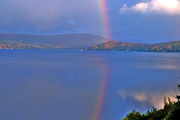 Rainbow over Seymour Lake in the NEK