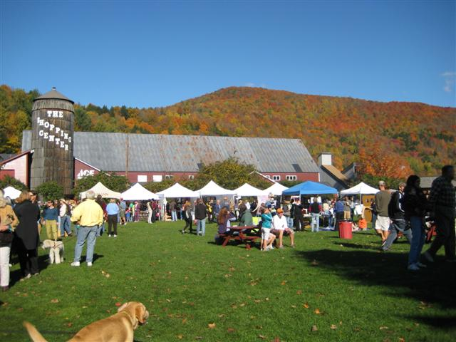 Vermont fall festivals often feature open markets for locally produced produce such as apples, peppers, plums and cherries